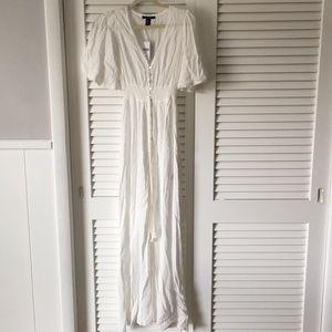 White dress Forever 21 maxi long